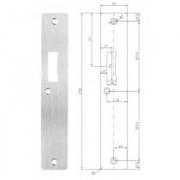 Brondool Universele sluitplaat RVS tbv slot 610 en 4347 232mm x 40mm