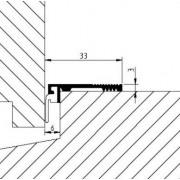 Luvema Tochtslijtstrip zelfklevend 32mm 826.AR.P