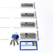Winkhaus Set cilinders dubbel (4 stuks) buiten x binnen 45/30mm voorzien van SKG *** met certificaat en 12 sleutels