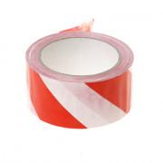 PVC Waarschuwingstape rood-wit 50mm x 66 meter