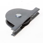 Jansen Rolslot met plaatijzeren kast polyamide wiel gelagerd 65mm met groef draagvermogen 17.5kg 549