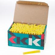 Schoolbordkrijt wit-geel doosje van 144 krijtjes
