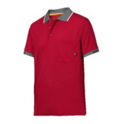 Snickers poloshirt tech rood L