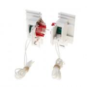 Koordbed.set Ducoton ventilatierooster 10/12 wit