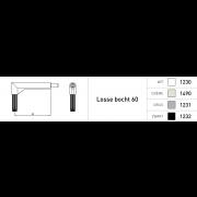 Duco bedieningstang B=60 1000mm Ral9005 (zwart)