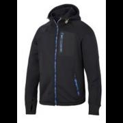 Snickers stretch fleece hoodie zwart L