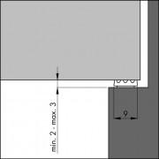 Ellen Tochtband zelfklevend P-profiel rubber kier 2-3mm wit 7.5 meter