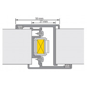 Deurnaaldprofiel binnen/binnen slotsparing Nemef 4219/27 type 2000 40mm 4219/27 2200mm