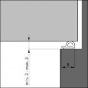 Ellen Tochtband zelfklevend P-profiel rubber kier 3-5mm wit 7.5 meter