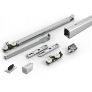 Argenta Proslide complete kit met rail van 2 meter manual fix 1x standaard stop en 1x slow stop