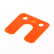 GB Drukplaat met sleuf oranje kunststof 70 x 70 x 2mm 34742