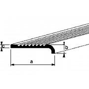 Roval Trapkantprofiel aluminium 25 x 6 x 2mm