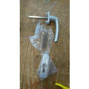 Greepset buiten aluminium  f1 Stift 7mm