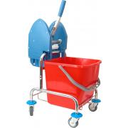 Betra Mopwagen + wringer chroom 25 liter