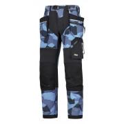FlexiWork broek+ holsterzak. navy camo/zwart