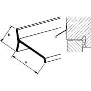 Roval Lekdorpelprofiel aluminium geboord 30 x 19mm