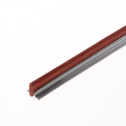 Kruger fiberrail aluminium 2000 x 10 x 3mm enkel