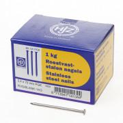 Hjz RVS nagels plat geruite kop 3.4 x 70mm 1kg