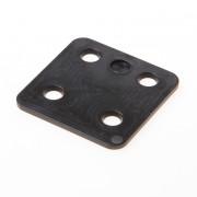 GB Drukplaat zonder sleuf zwart kunststof 70 x 70 x 3mm 34703