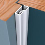 Secustrip Plus binnendraaiend wit lengte 1500mm 1010.140.02