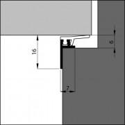 Ellen Inbouwbouwprofiel acrylbestendig 3 meter