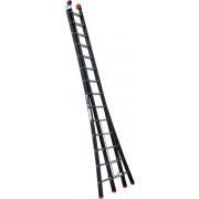 Kelfort Reformladder Magnus, aluminium, zwart, 2x14 treden