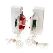 Koordbed.set Ducoton ventilatierooster 18/30 wit
