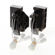 Koordbed.set Ducoline ventilatierooster 17/26 zwart