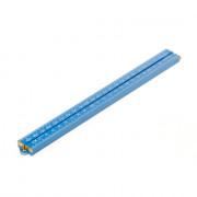 Duimstok met kop plastic blauw 1meter