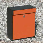 Brievenbus Grundform Zwart/Oranje