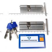 Winkhaus Set cilinders dubbel (2 stuks) buiten x binnen 50/30mm voorzien van SKG *** met certificaat en 6 sleutels