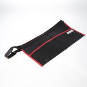 Spijkerschort zwart kanvas+riem 90