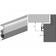 Luvema Tochtstrip opbouw acrylbestendig 2200mm elro 6905.AR