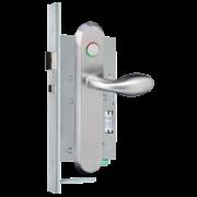 Brondool Carelock 4.0 - 01 [ZW] PRIV. ALU F1 Gangzijde Kruk 386 72PC LED, Kamerzijde Kruk 386 Z. PRIV BL DIN L