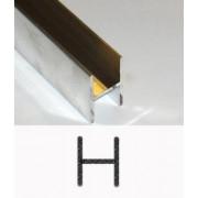 Aluminiuml H-profiel 18 x 32 x 2 x 1.5mm