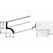 Aluart Aluminium Lekdorpelprofiel aluminium 14 x 20 x 12mm