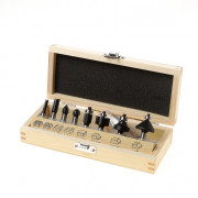 Trasco HM frezenset in houten kist 8-delig schacht 8mm