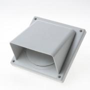 Weckx Gevelklep kunststof met kap/klep grijs diameter 100-125mm