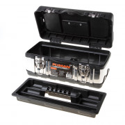 Fixman gereedschapskoffer leeg, met inlegbakje, materiaal metaal/kunststof 350x160x170mm (lxdxh)
