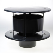 Wit & Zoon Trega-kap zwart 150mm