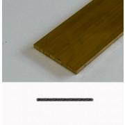 Kabel Messing profiel plat 40 x 3mm