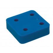 Gb Drukplaat zonder sleuf blauw 20 x 70 x 70mm KS 34720