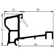 Luvema Nieuwbouwprofiel geanodiseerd acrylbestendig S5.G.AR