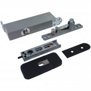 ODB-100Z Taatsdeurscharnier zwart voor pivoterende deuren van max.100kg - zwarte afdekplaten